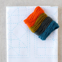 Sashiko Embroidery Kit - Sampler Square