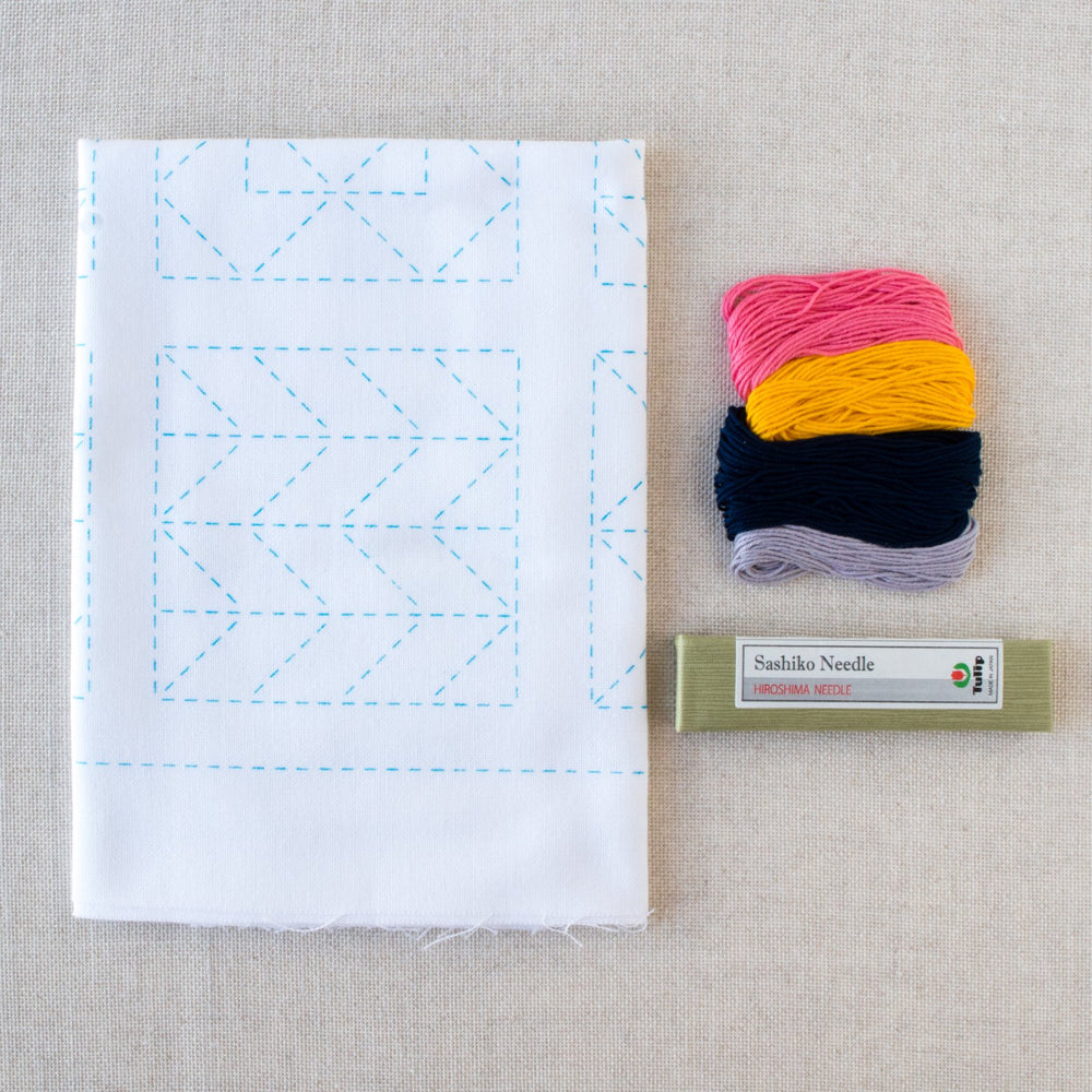Sashiko Embroidery Kit - Farmer's Wife