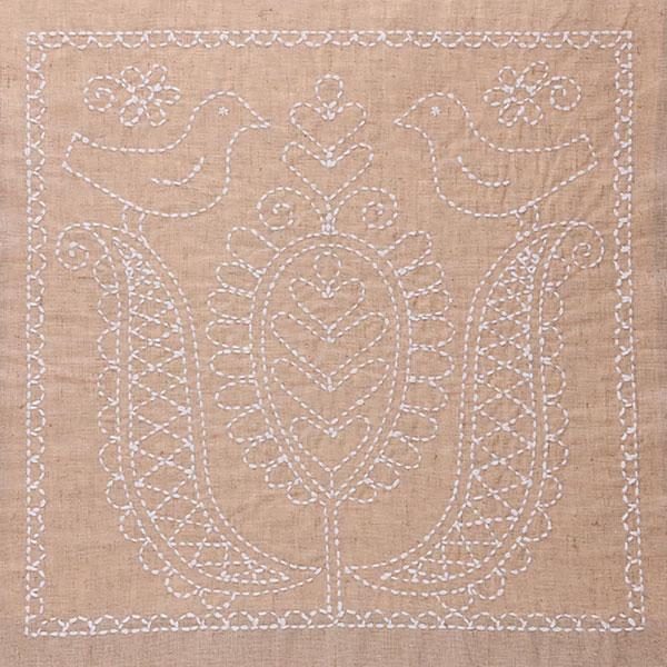 Sashiko Embroidery Kit - Tulip with Little Birds