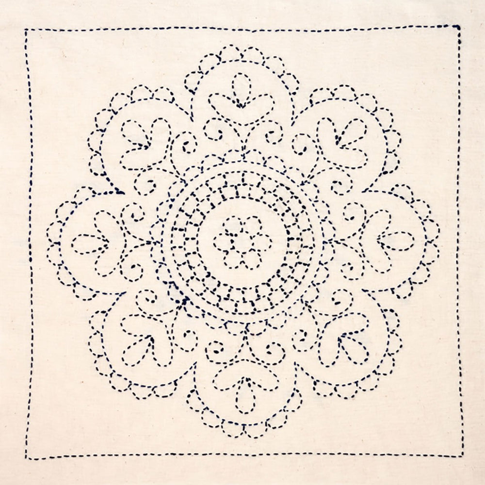 Sashiko Embroidery Kit - Rose Medallion