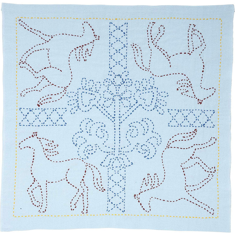 Sashiko Embroidery Kit - Galloping Horses