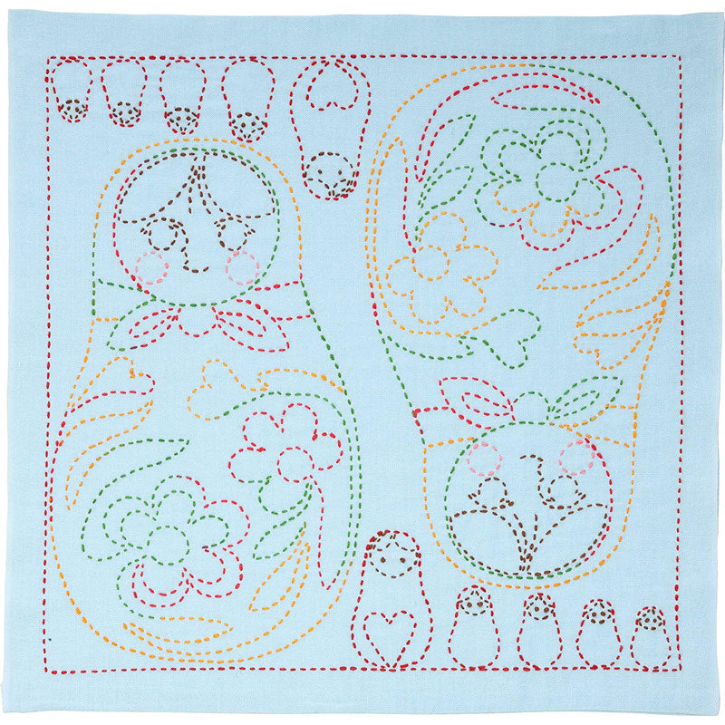Sashiko Embroidery Kit - Matryoshka