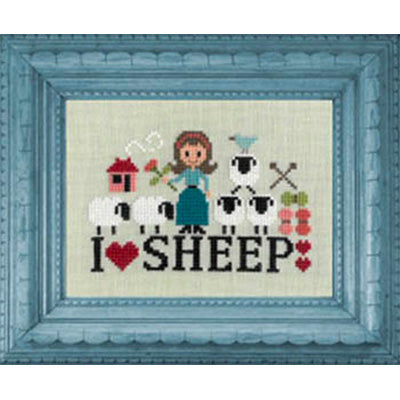 I Love Sheep Cross Stitch Pattern