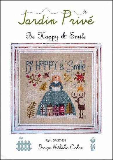 Be Happy and Smile Cross Stitch Pattern