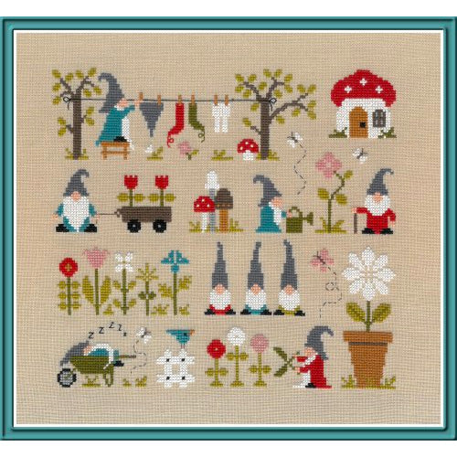 In the Land of Gnomes (Au Pays des Gnomes) Cross Stitch Pattern