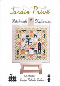 Patchwork Halloween Cross Stitch Pattern