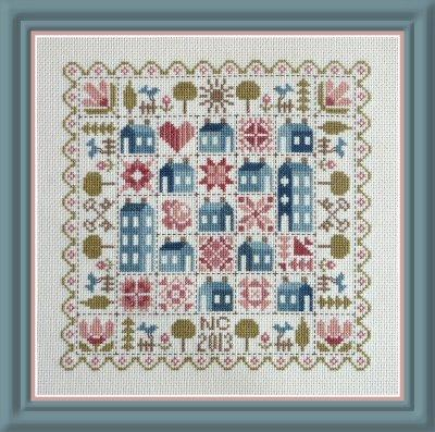 Patchwork Houses Cross Stitch Pattern