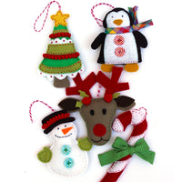 Felt Holiday Ornament Pattern - Set of 5