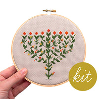 Flowering Menorah Cross Stitch Kit