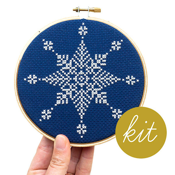 Winter Snowflake Cross Stitch Kit