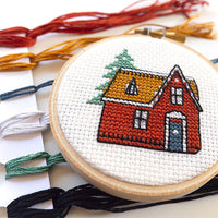 Vintage Cabin Cross Stitch Kit
