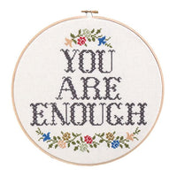 You Are Enough Cross Stitch Pattern