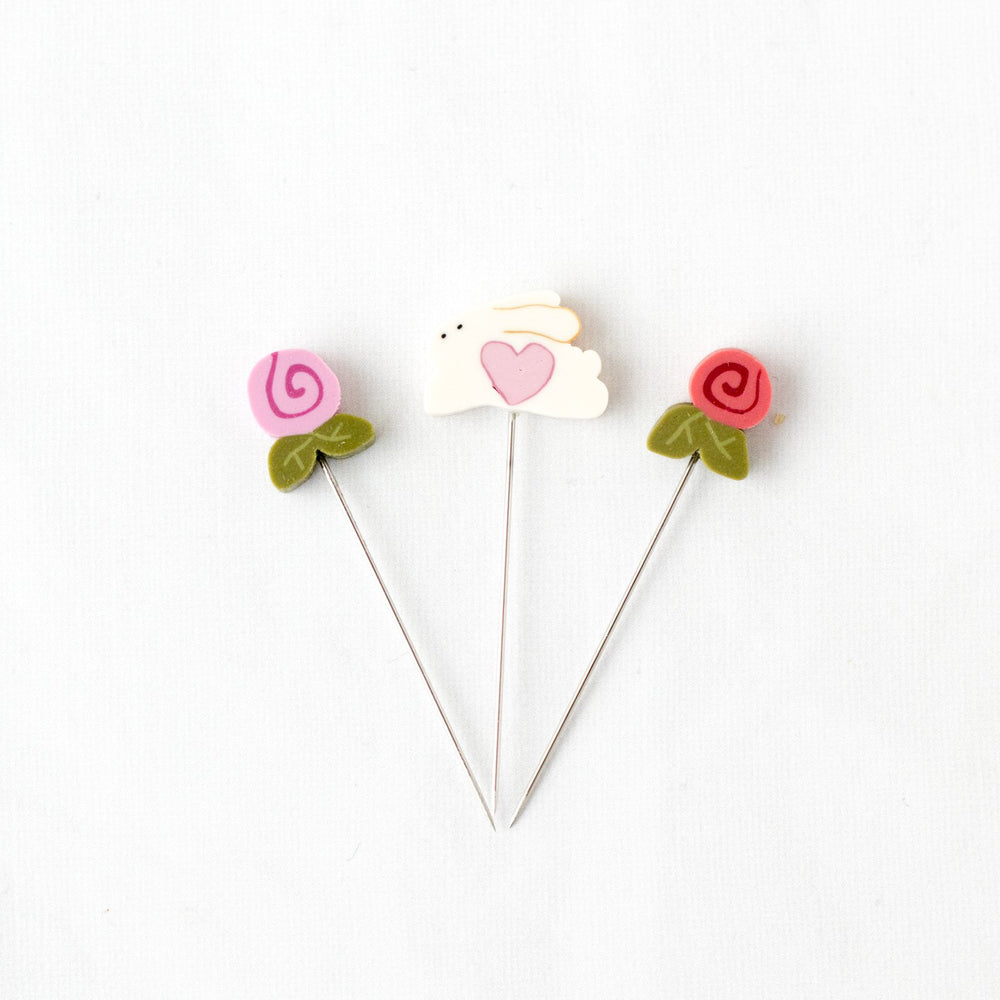 Handmade Straight Pin Mini Collection - Springtime
