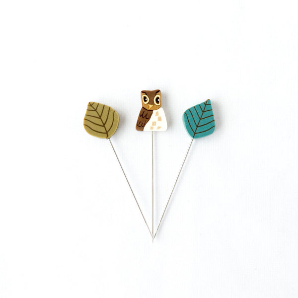 Handmade Straight Pin Mini Collection - Hoot