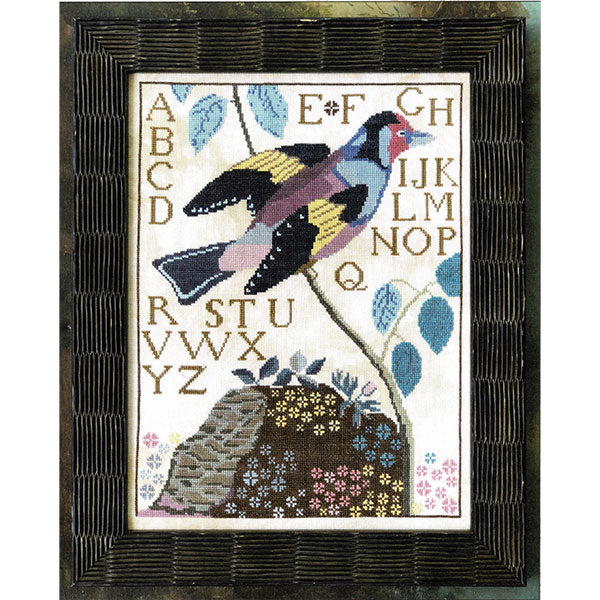 Bird and Alphabet Cross Stitch Sampler Pattern - Daniel