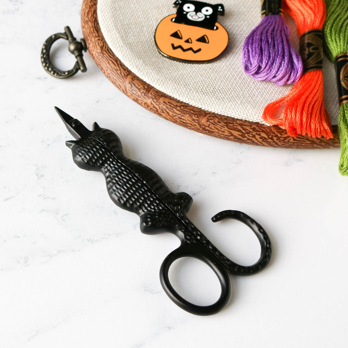 Black Cat Embroidery Scissors
