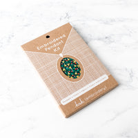 Hand Embroidered Pendant Kit - Fruity