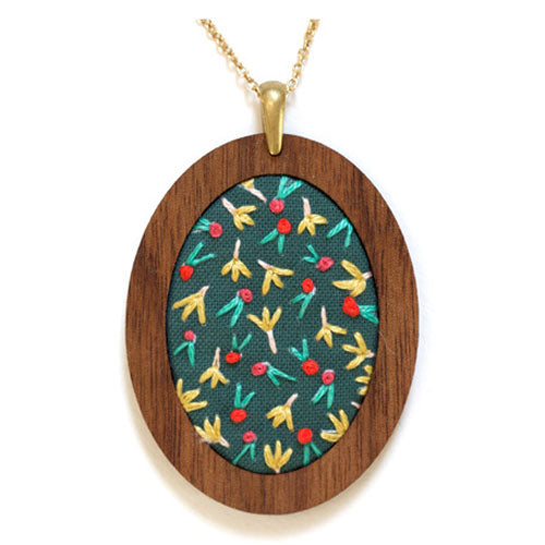 Hand Embroidered Pendant Kit - Fruity (20% OFF)