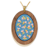 Hand Embroidered Pendant Kit - Tiny Tulips