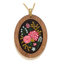 Hand Embroidered Pendant Kit - Wildflowers