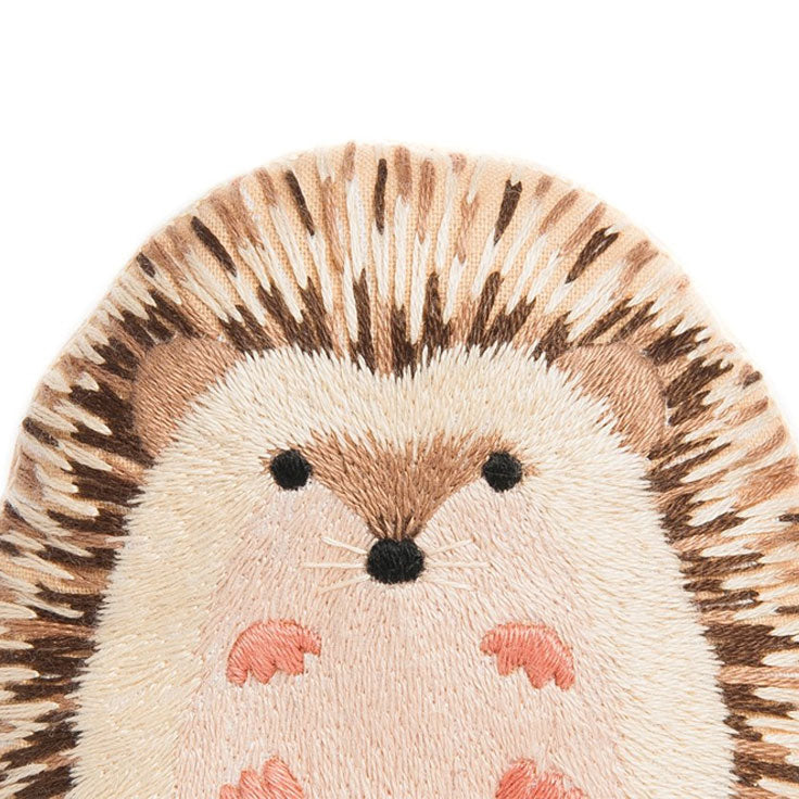 Hand Embroidered Plushie Doll Kit - Hedgehog