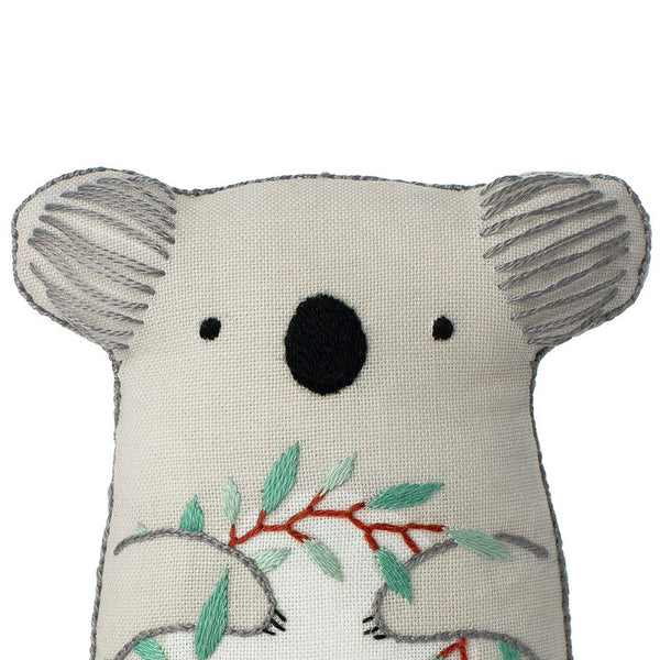 Hand Embroidered Plushie Doll Kit - Koala