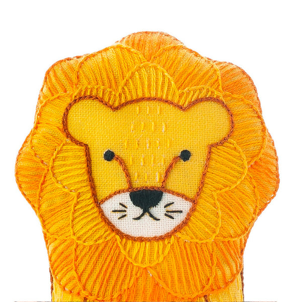 Hand Embroidered Plushie Doll Kit - Lion