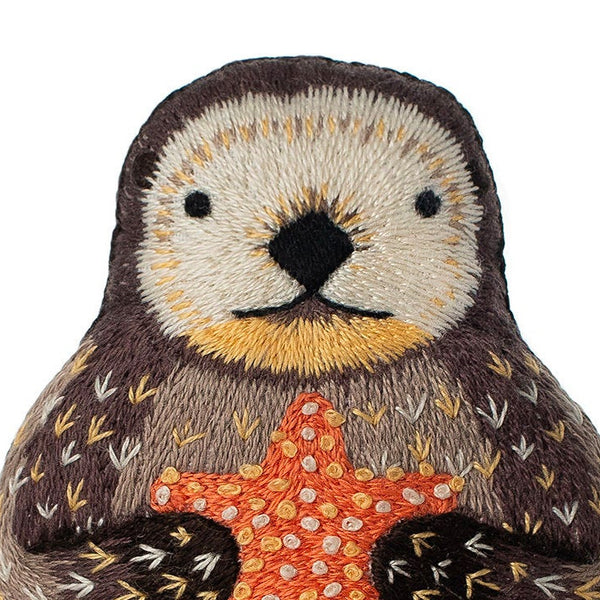 Hand Embroidered Plushie Doll Kit - Otter