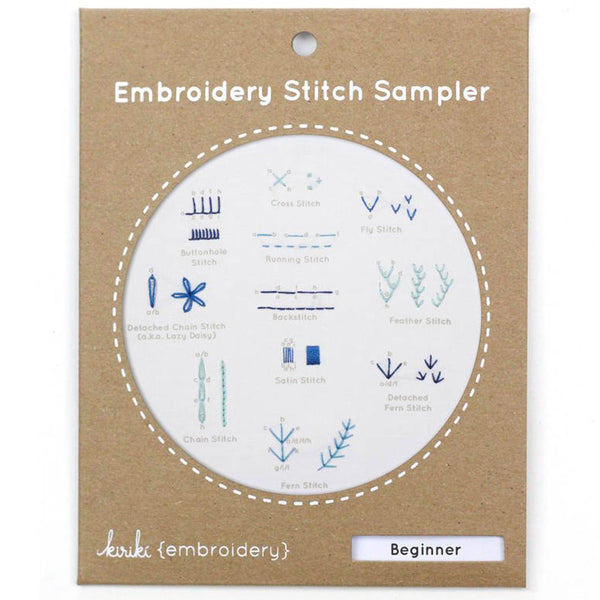 Hand Embroidery Stitch Sampler - Beginner Stitches