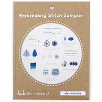 Hand Embroidery Stitch Sampler - Intermediate Stitches
