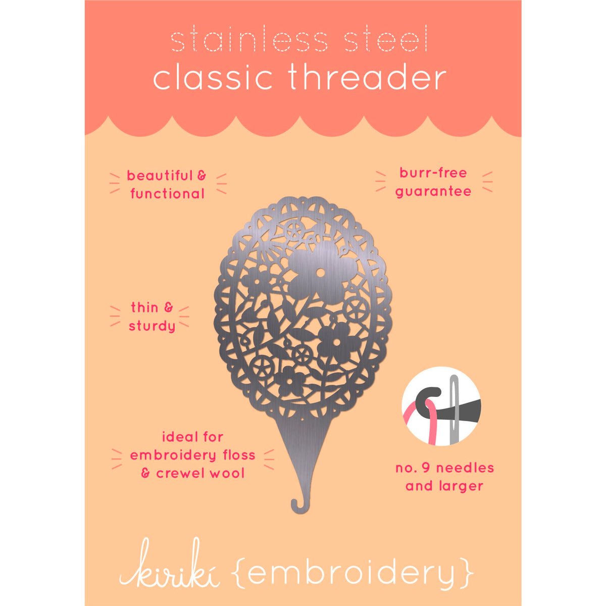 Floral Lace Classic Needle Threader