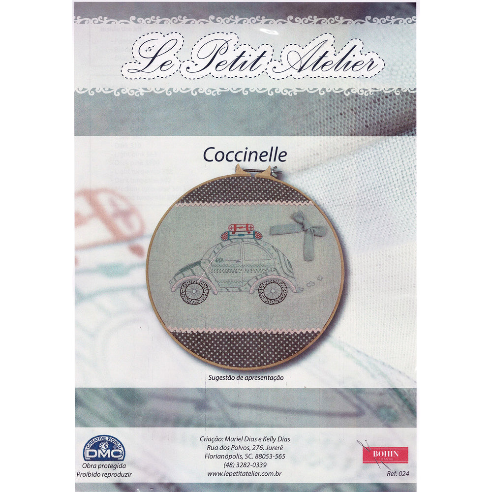"French Hand Embroidery Kit - Coccinelle (""Ladybug"")"