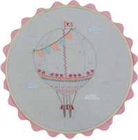 French Hand Embroidery Kit - Hot Air Balloon