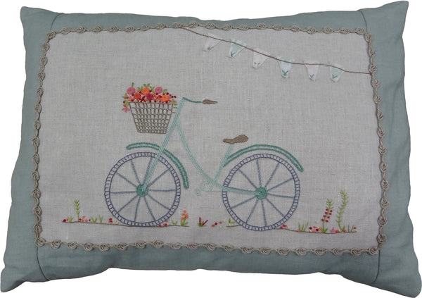 French Hand Embroidery Kit - A Little Bike Ride