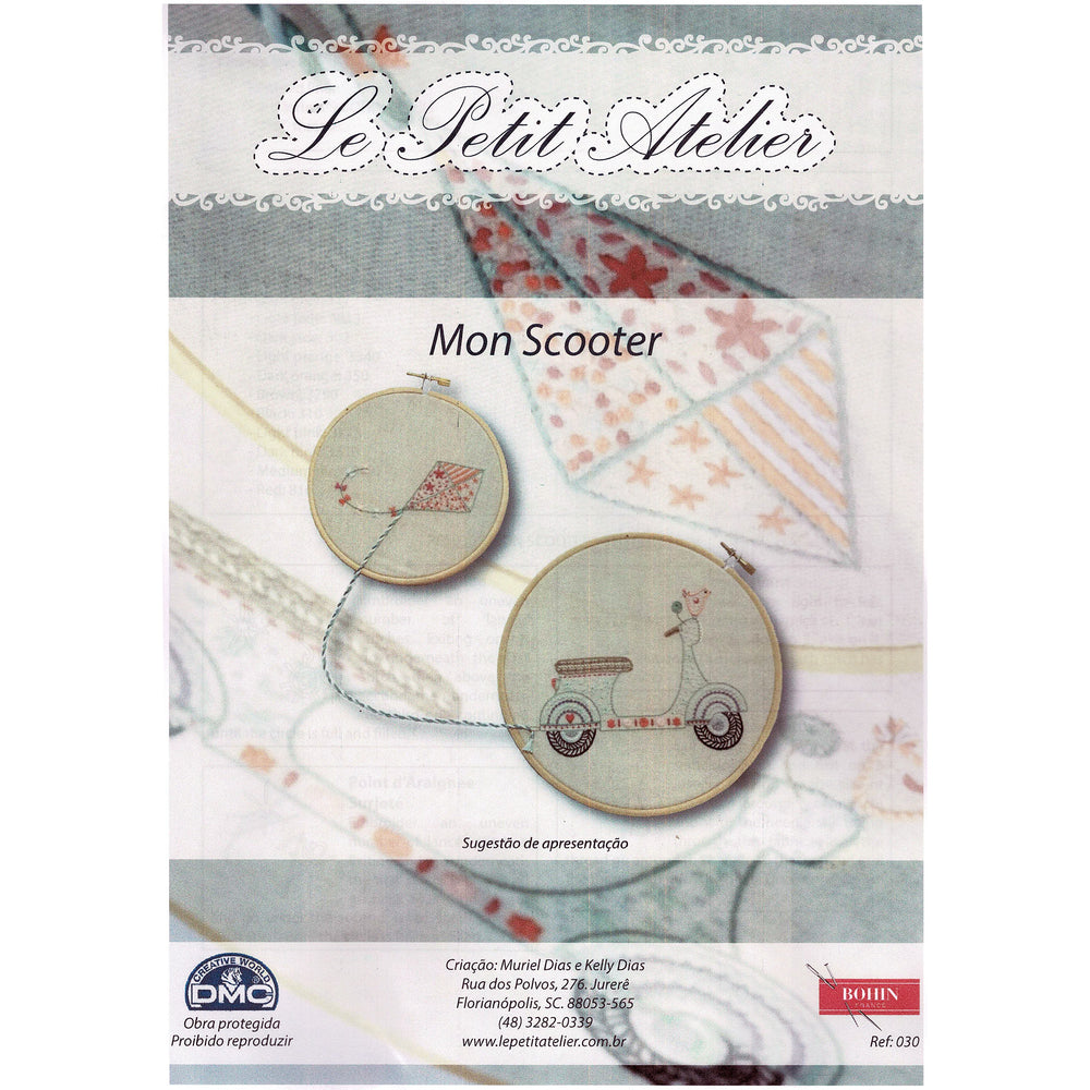French Hand Embroidery Kit - My Scooter