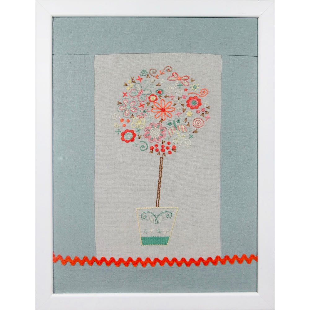 French Hand Embroidery Kit - Spring Tree