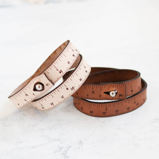 Leather Wrist Ruler Bracelet