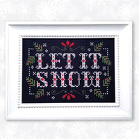 Let It Snow Cross Stitch Pattern