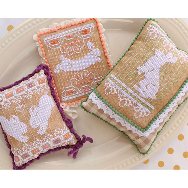 Bunny Lace Trio Cross Stitch Pattern