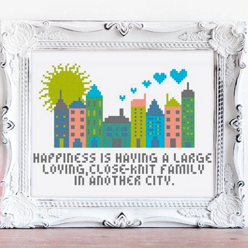 In Another City Cross Stitch Pattern