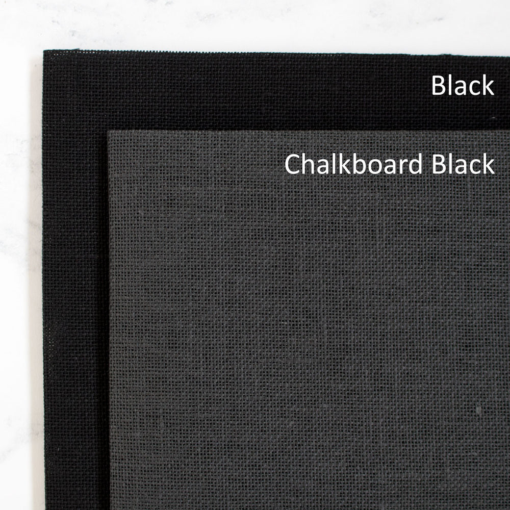 Chalkboard Black Linen Cross Stitch Fabric - 28 count