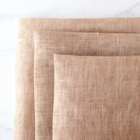 Hand Dyed Sandcastle Linen Fabric