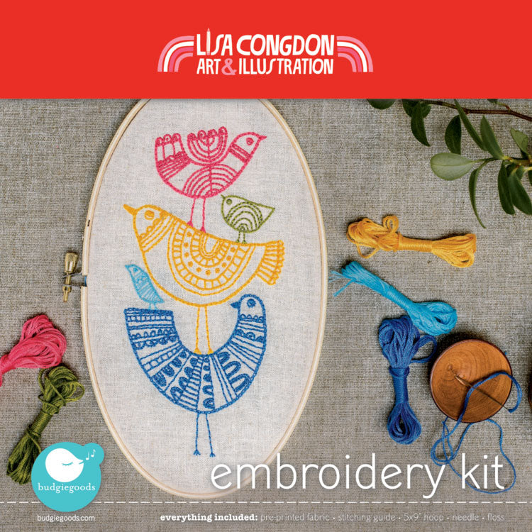 Lisa Congdon Hand Embroidery Kit - Birds