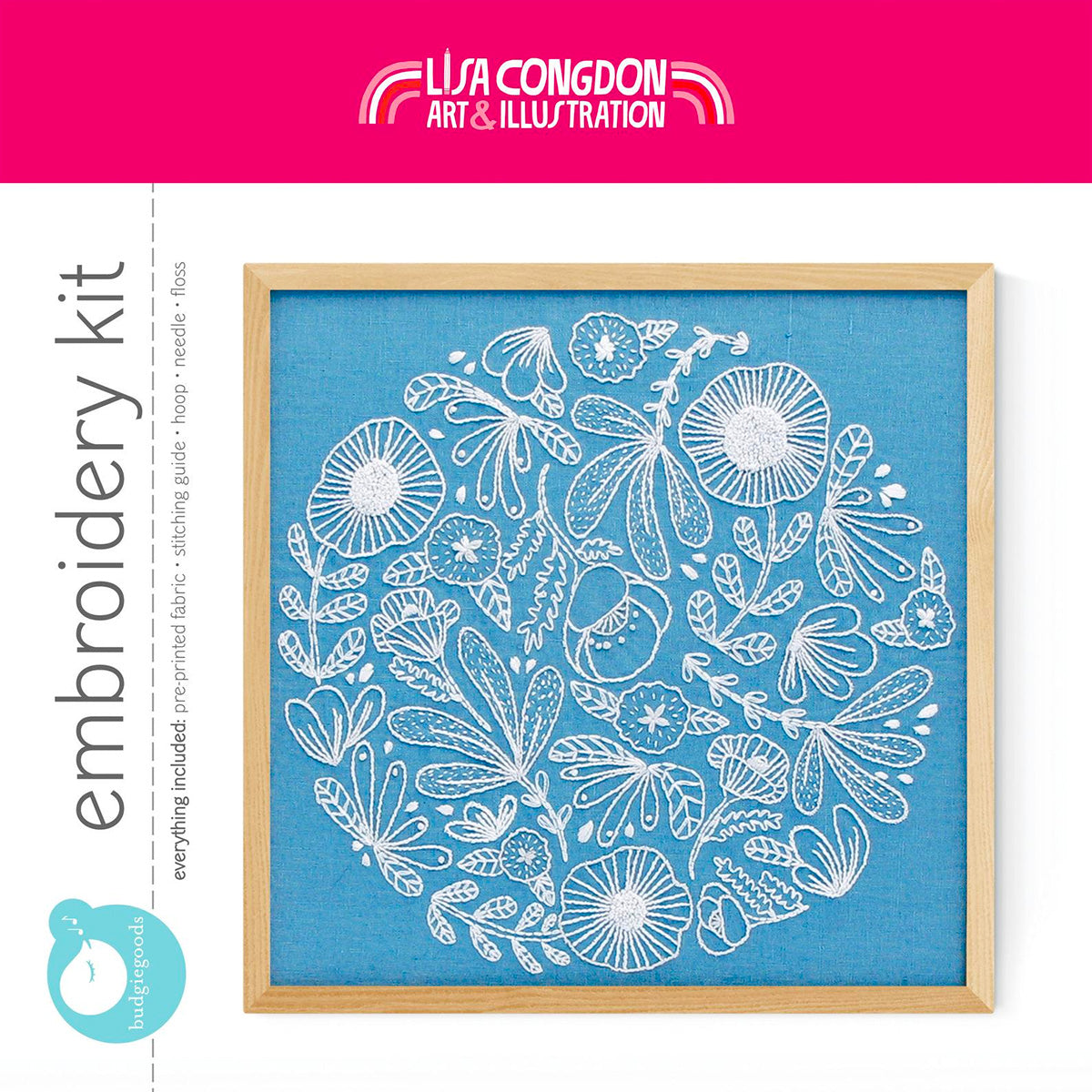 Lisa Congdon Hand Embroidery Kit - Poppy Patch