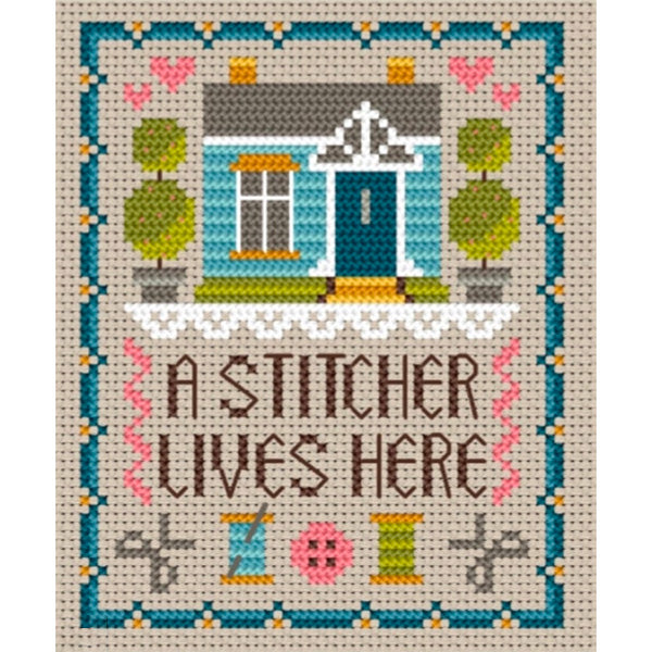 Home of a Stitcher Cross Stitch Pattern by Little Dove Designs