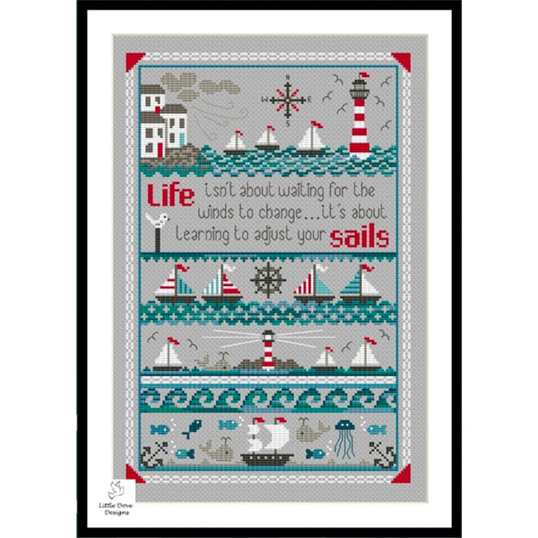 Adjust Your Sails Cross Stitch Pattern