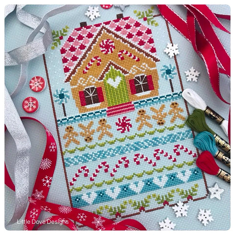 Gingerbread Cottage Cross Stitch Pattern