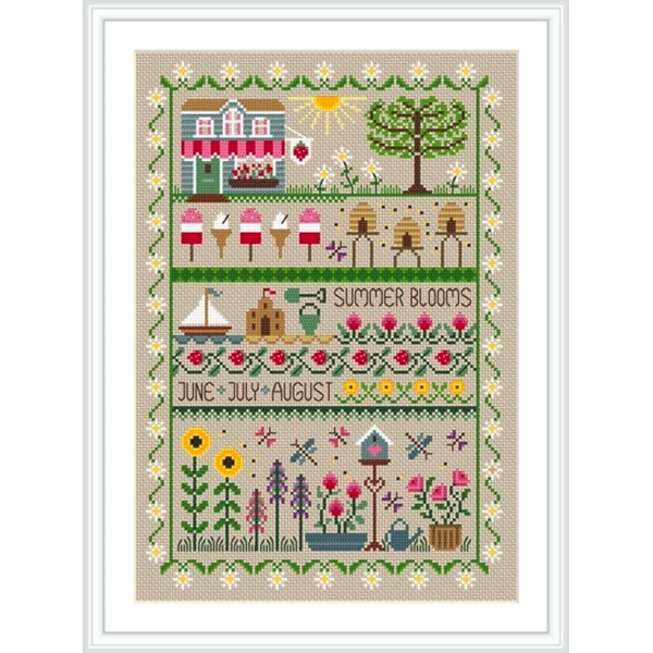 Summer Blooms Cross Stitch Pattern