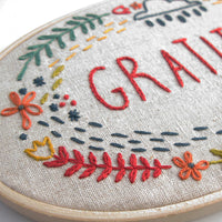 Gratitude Hand Embroidery Kit