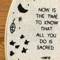 Hafiz Hand Embroidery Kit - All You Do Is Sacred
